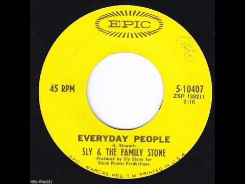 """""""Everyday People"""" w/Lyrics- Sly and the Family Stone"""