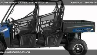 7. 2013 POLARIS RANGER XP 800 CREW CAB EPS LE EPS LE 4X4 - for sale in Murrells Inlet, SC 29576