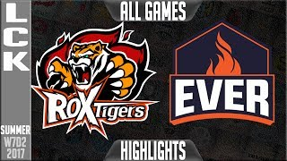 ROX Tigers vs Ever 8 Highlights ALL GAMES - Week 7 LCK Summer 2017 - ROX vs EEWLCK teams: Afreeca Freecs, bbq Olivers, Jin Air Greenwings, LongZhu Gaming, KT Rolster, MVP, Kongdoo Monster, ROX Tigers, Samsung Galaxy, SK Telecom T1LCK Spring 2017 playlist: https://www.youtube.com/playlist?list=PLJwuLHutaYuI5BdsTlhYB67MhL4VnO0w7☻All games spoiler free with stats and infographs at Stage: https://stage.gg/► All other previous tournaments: http://bit.ly/1WBqwLzKazaLoLLCShighlights -  bringing you fast highlights of LCS, LCK, LPL and LMS League of Legends Esports Matches every day♡♡♡♡♡♡♡♡♡♡♡♡♡♡♡♡♡♡♡♡♡♡♡♡♡♡♡♡♡♡✉ Social media below - Follow for regular updatesⓕⓑ  KazaGamez  ►http://on.fb.me/1N5j0EHⓖ+                            ►http://bit.ly/1Bpjrbaⓣⓦⓘⓣⓣⓔⓡ      ►Twitter      -  http://bit.ly/1BkVAtGⓣⓦⓘⓣⓒⓗ          ►Livestream: http://bit.ly/1BpjzYdⓓⓞⓝⓐⓣⓔ          ►Paypal: http://bit.ly/1cBU6JnSubscribe: http://bit.ly/1oZa2wJ