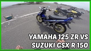 Video Drag Yamaha 125 ZR  VS GSX R 150 VS Aprilia 125 RS MP3, 3GP, MP4, WEBM, AVI, FLV November 2018
