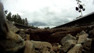 GoPro Sitting Under A 75mph Train
