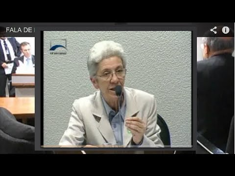 Fala de Isa Musa de Noronha na Comissão de Assuntos Econômicos