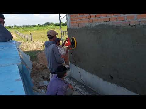 Máy xoa kết hợp máy phun vữa quá nhanh. NPL 0915911533 Nam Phú Lộc