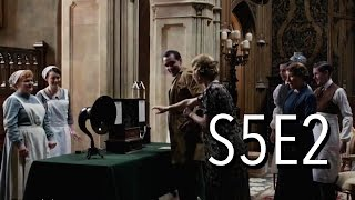 "Downton Abbey series 5, episode 2 (American release) is reviewed. A new ""wireless"" is brought in and Lord Grantham shows off ..."