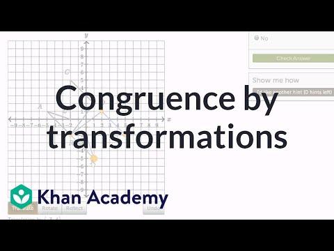 Congruent Shapes Transformations Video Khan Academy