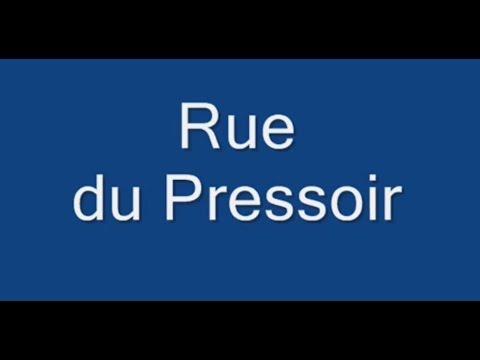Rue du Pressoir Paris Arrondissement  20e