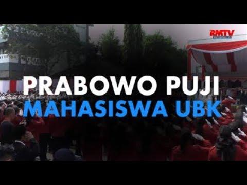 Prabowo Puji Mahasiswa UBK