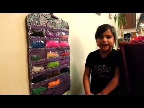 Rainbow Loom Organizer, How to store your rubberbands.