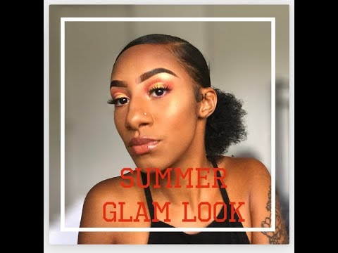 SUMMER G L A M LOOK ! My First Make-Up Tutorial !
