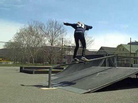 Front side board slide at lock haven skatepark watch in HQ