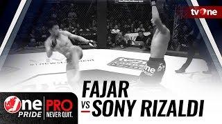 Video [HD] Fajar vs Sony Rizaldi - One Pride Pro Never Quit #18 - Title Fight MP3, 3GP, MP4, WEBM, AVI, FLV Mei 2018