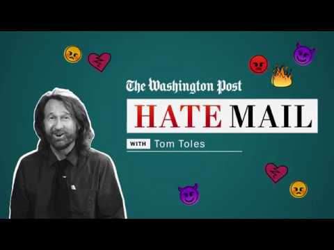 Washington Post editorial cartoonist Tom Toles reads his hate mail