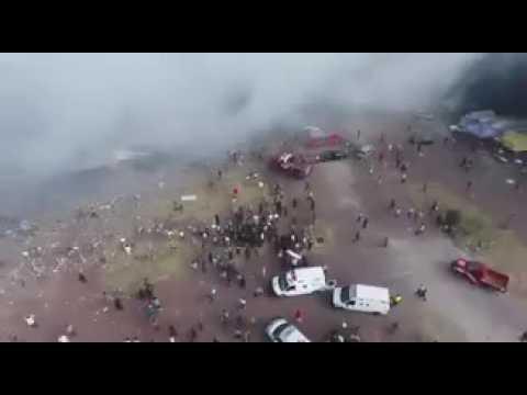 Asciende a 29 los muertos por la explosión en Tultepec