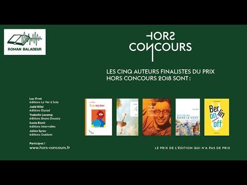 """Les 5 finalistes du prix """"Hors-Concours"""" - ROMANS BALADEURS"""