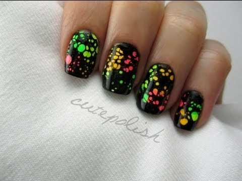 Nails - I'm so happy to be back!! I've missed sharing nail art with you :) I hope you enjoy using this water spotting technique that I came up with! Have fun! facebo...