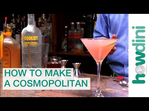 cosmopolitan - http://www.howdini.com/howdini-video-6706919.html How to make a cosmopolitan - Cosmopolitan drink recipe A perfect cosmopolitan is a must at any cocktail par...