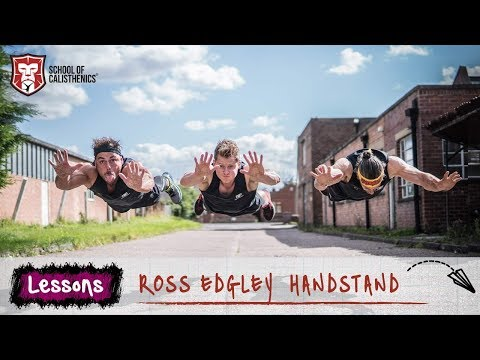 Lessons: Ross Edgley learns to HANDSTAND! | School of Calisthenics (видео)