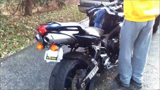 8. Before and After, 2008 Yamaha Fz6 Scorpion Slip On Exhaust