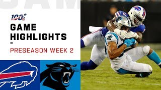 Bills vs. Panthers Preseason Week 2 Highlights | NFL 2019