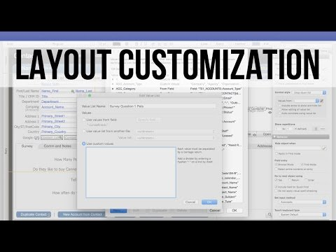 003 FM Starting Point: Layout Customization