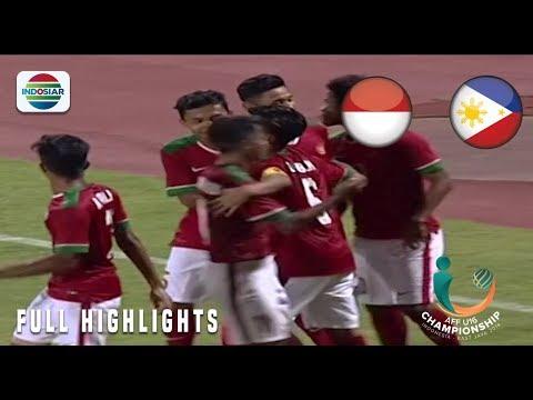 Indonesia (8) vs Filipina (0) - Full Highlight   AFF U 16 Championship 2018