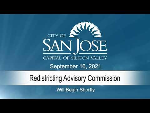 SEP 16 2021 Redistricting Advisory Commission