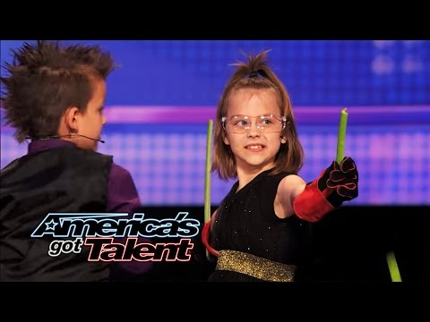 Dom the Bom's Triple Threat: 8-Year Old Triplets' Hot Card-Throwing Act – America's Got Talent 2014