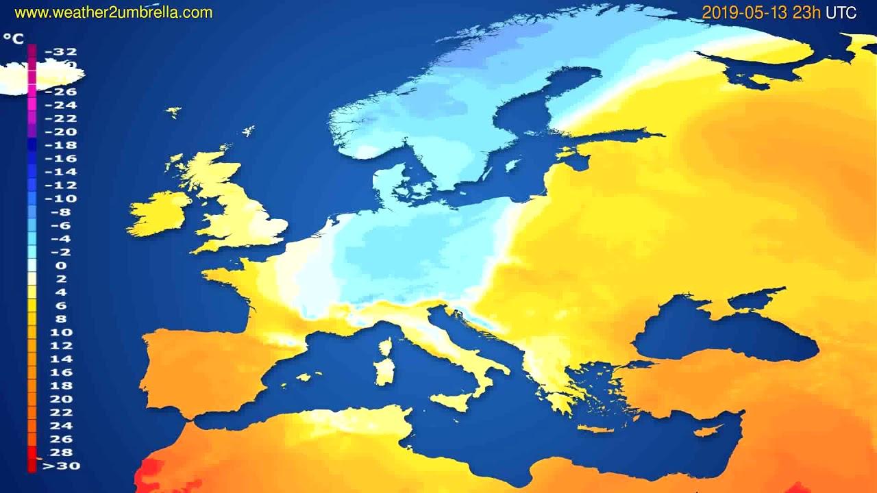 Temperature forecast Europe // modelrun: 12h UTC 2019-05-10