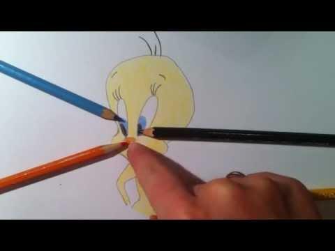 Tweety zeichnen lernen – Malvorlagen Zeichentrick Figuren