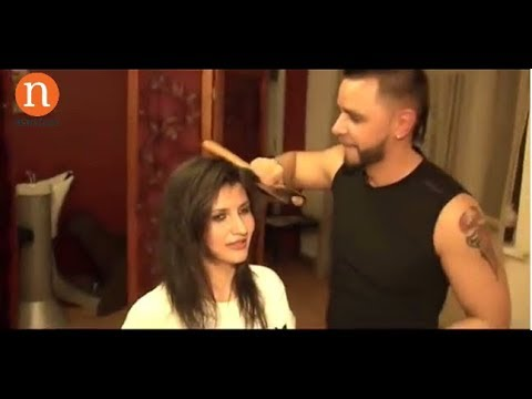 This Hairdresser Cuts hair with AXE