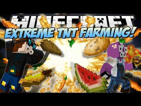 Minecraft | EXTREME TNT FARMING MOD! (Explosive Carrots, Potatoes & More!) | Mod Showcase