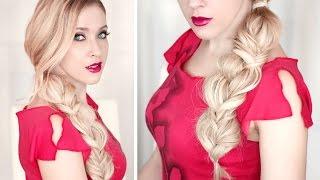 Tresse bohème fusionnée: 3 brins + épi de blé ✿ Tuto coiffure cheveux longs - YouTube