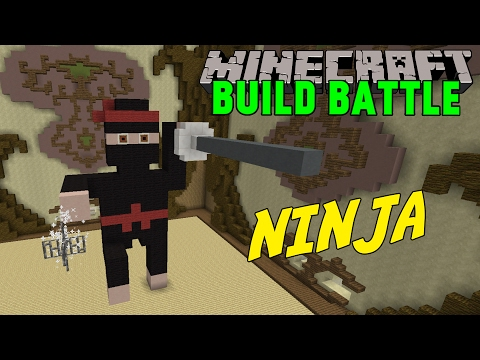 Minecraft | EPISK NINJA | Team Build Battle Minigame på Svenska видео