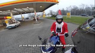 Tak się bawią Mikołajowie na motocyklach – Lubin
