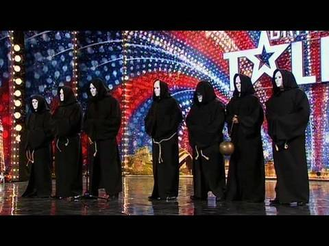 talent - Britain's Got Talent: At first, it looks quite a sinister act - but nothing could be further from the truth! These seven monks really do have some surprises ...
