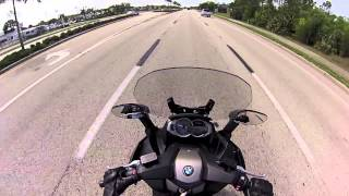 3. 2013 BMW C650GT Sapphire Black Maxi Scooter Ride & Spec Video