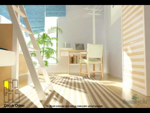 interior 3d animation - Three dimensional Animation & Visualization of Samanyolu apartment blocks which located in the heart of the Konya / Turkey. The movie done with 3ds max, afte...