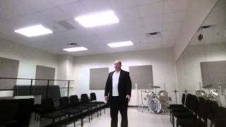 Cameron Harris - Final Classical Voice Audition - Fall 2015 College Of Music