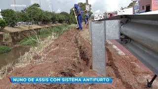 Avenida Nuno de Assis com sistema antifurto