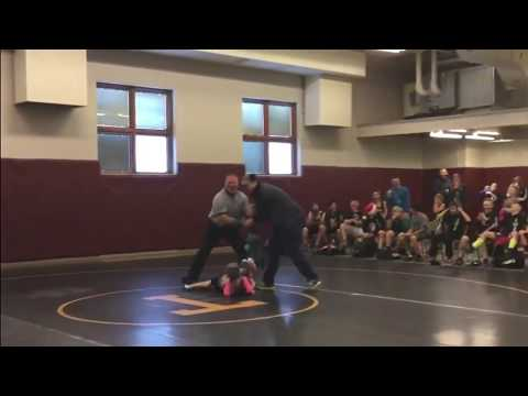 During her wrestling match, this young girl's little brother comes to her rescue! (видео)