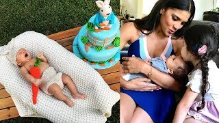 Ana Patricia Gámez recibe visita de Francisca Lachapel y muestra la torta de 2 meses de su hijo Gael