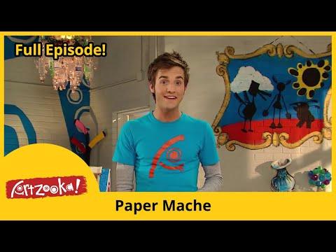 Artzooka! - Paper Mache, Recycled CDs (FULL EPISODE)