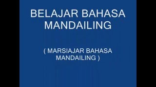 BELAJAR BAHASA MANDAILING