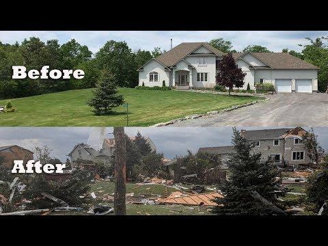 Canada tornado, before and after, Dunrobin tornado Gatineau, Ottawa area, Quebec_Legjobb videók: Időjárás, vihar videók