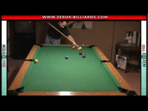 zerox shot - http://www.zerox-billiards.com Jump Shot using the Rails