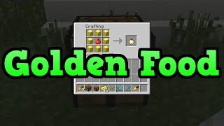 Minecraft PS3 + Xbox 360: Golden Enchanted Apple and Golden Carrot (TU14)