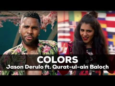 COLORS By Jason Derulo Ft Quratulain Baloch| FIFA World Cup 2018 Anthem| Coco Cola | Lyrics