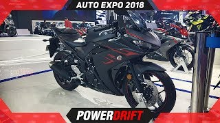 8. 2018 Yamaha R3 @ Auto Expo : PowerDrift