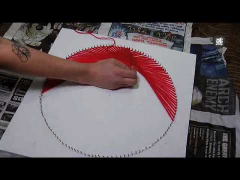 70's String Art Tutorial, Decor it Yourself