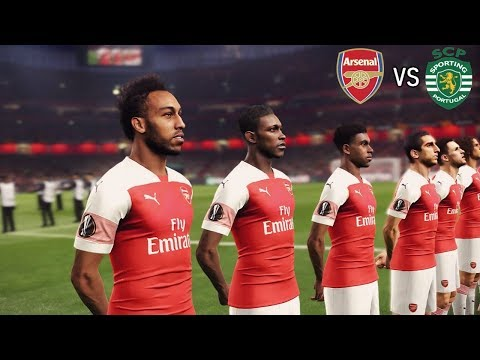 Arsenal vs Sporting Lisbon | Europa League 08/11/2018 Gameplay